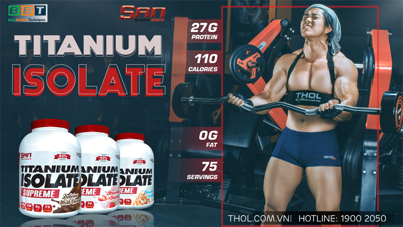 S.A.N Titanium Whey Isolate Supreme