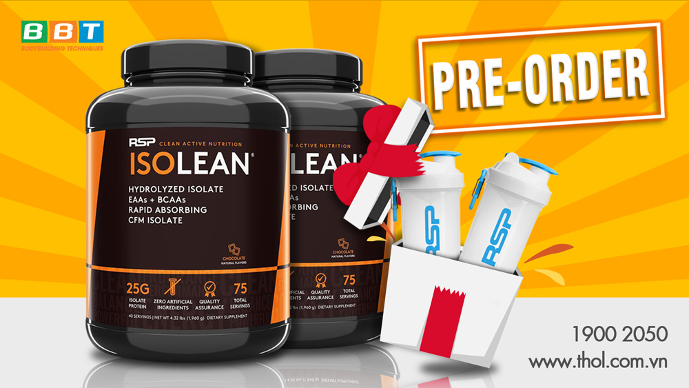 ISOLEAN Hydrolyzed Whey Protein Isolate Pre-order tặng bình lắc RSP